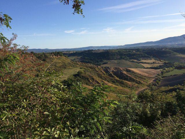 Aussicht über Hügel