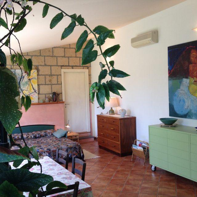 Studio mansardé avec plantes à Podere Porcino